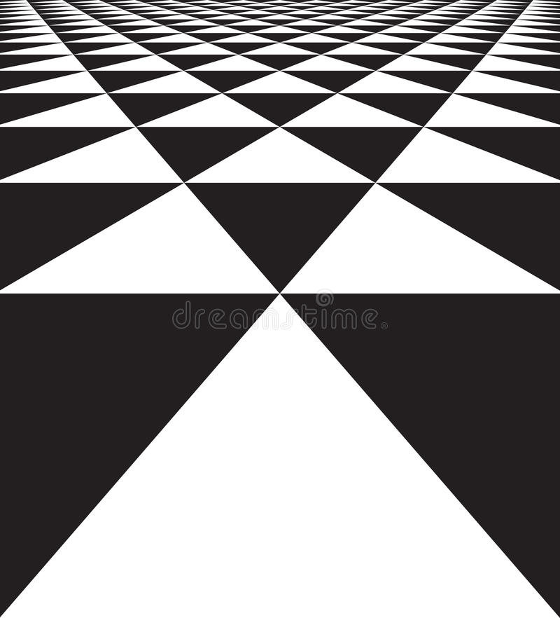 Abstract geometric seamless texture of triangles. Abstract geometric seamless texture background of black and white triangles. Vector illustration stock illustration