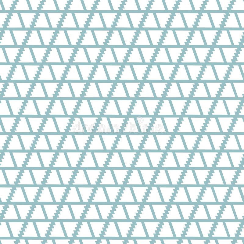Abstract geometric seamless vector pattern with shapes and lines on light blue background royalty free illustration