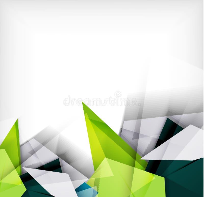 Abstract geometric shape background stock illustration