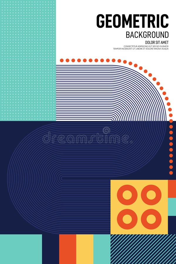 Abstract geometric shape layout poster design template background royalty free stock image