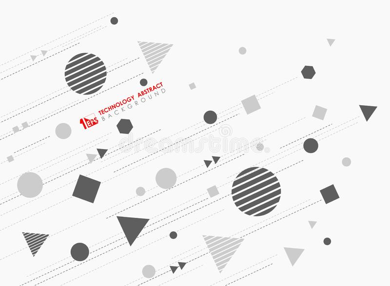 Abstract geometric shape pattern design of new technology with lines decorative background. illustration vector eps10 vector illustration