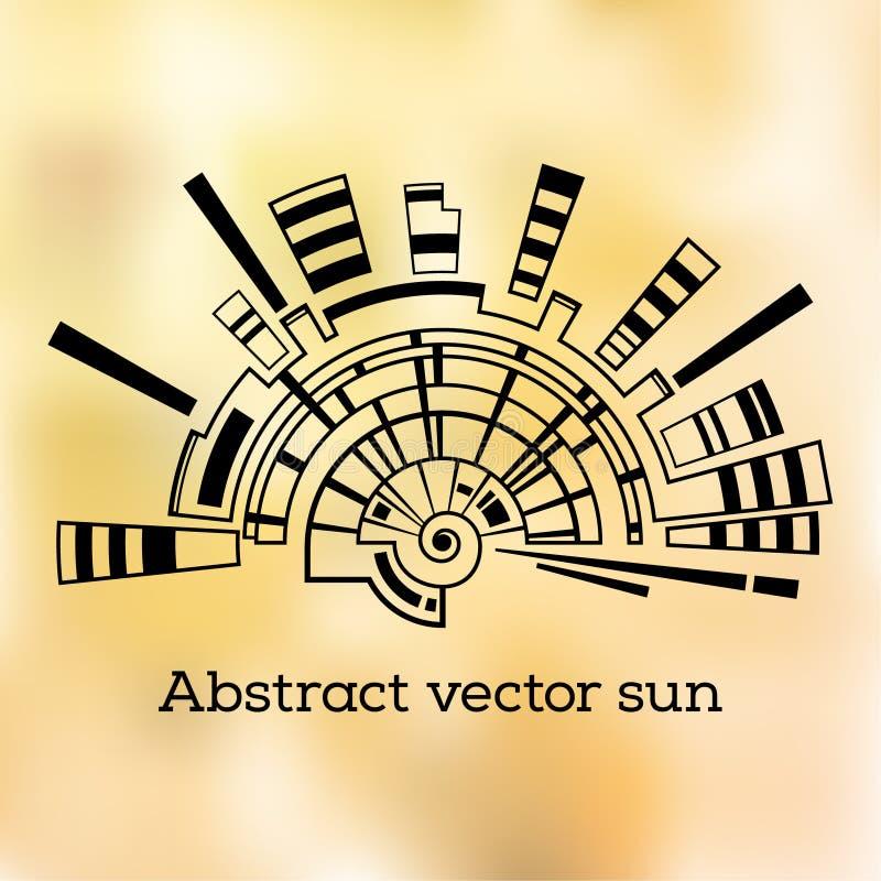 Abstract geometric shape. royalty free illustration
