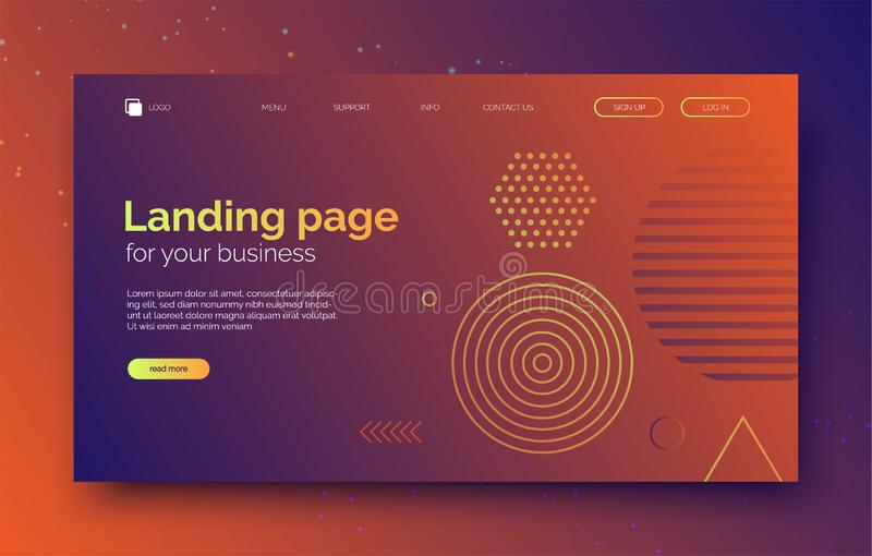 Abstract geometric shapes background, banner for presentation, landing page, web site. royalty free illustration