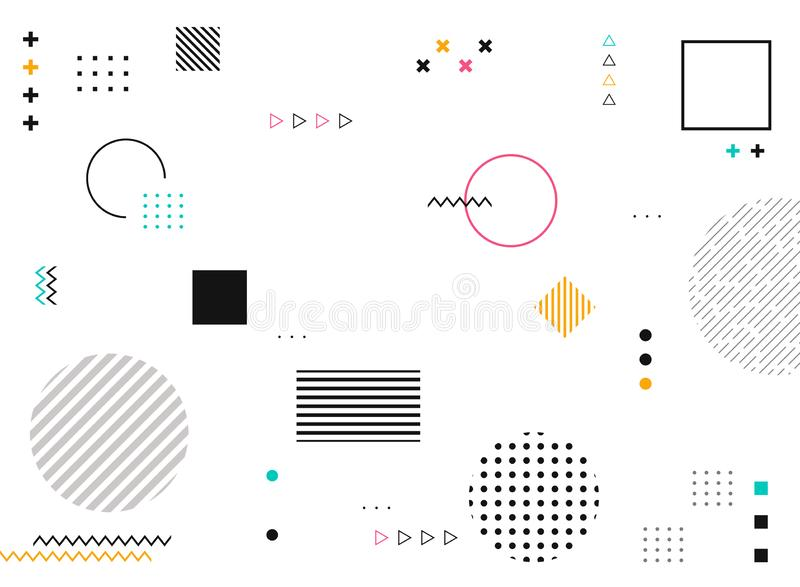 Abstract geometric shapes of colorful modern pattern background royalty free illustration