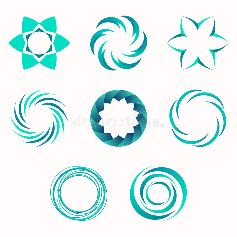 Abstract geometric shapes, symbols for your design. vector illustration