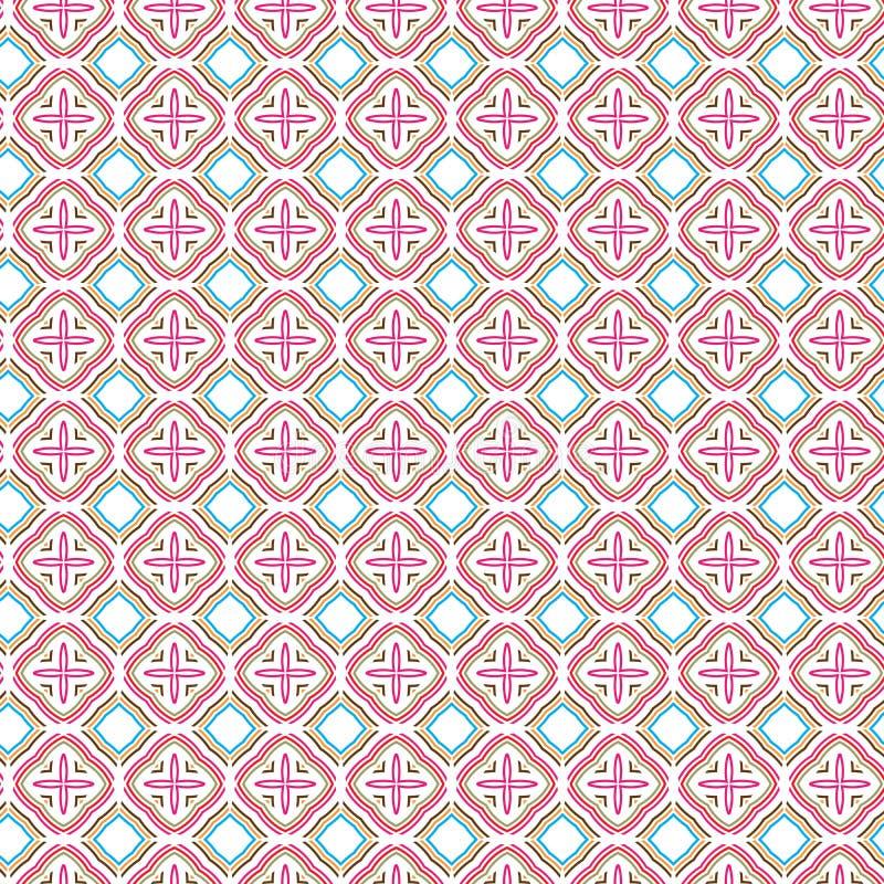 Abstract Geometric Square Plaid Pattern Fabric Illustration Seamless Pattern Background Diamond Modern stock illustration