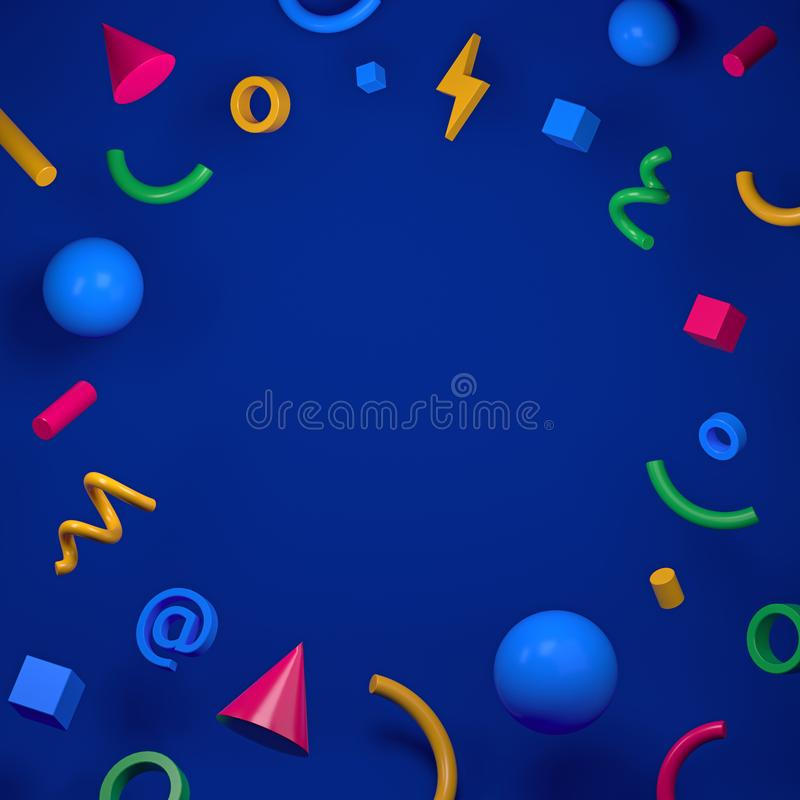 Geometric abstract background for your design. 3d render vector illustration
