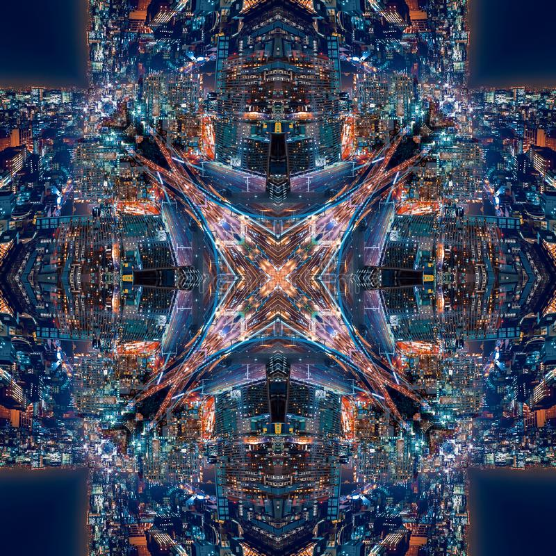 Abstract geometric symmetrical fractal pattern royalty free stock images