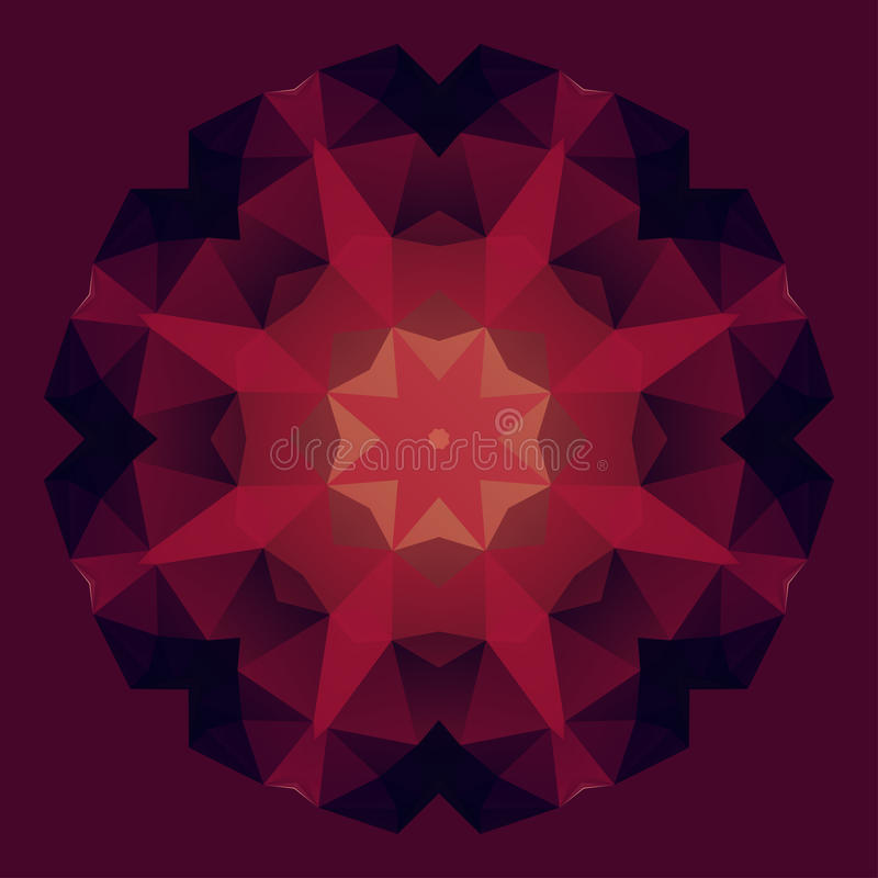 Abstract Geometric Symmetry Flower Stock Photography