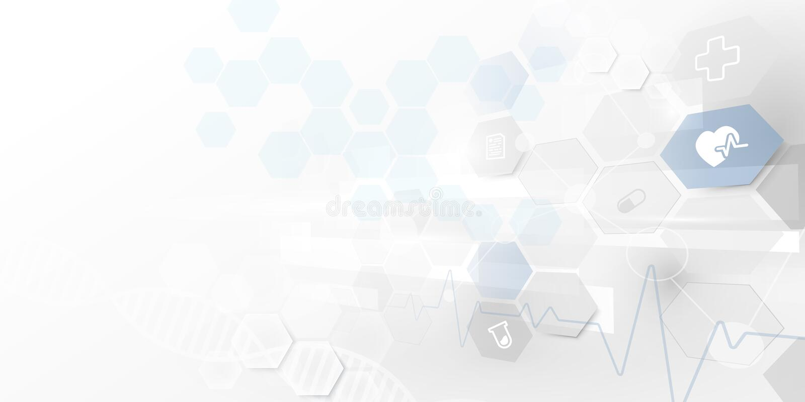Abstract geometric technology digital hi tech. Medicine and science concept background. Medical Icons vector illustration
