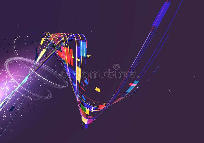 Abstract geometric technology vector design element. stock photo
