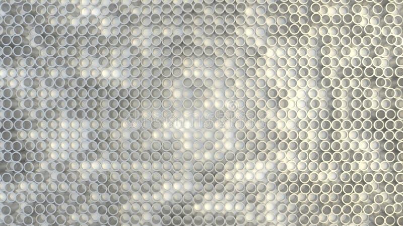 Abstract geometric texture of randomly extruded circles royalty free stock photos