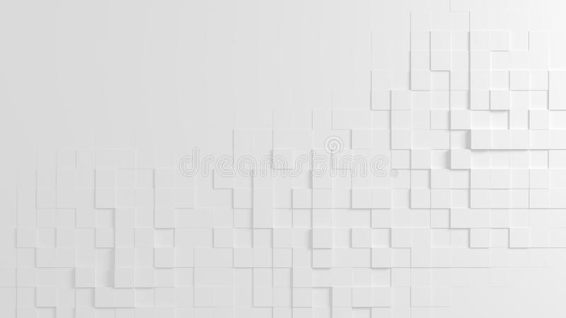 Abstract geometric texture of randomly extruded cubes royalty free stock photography