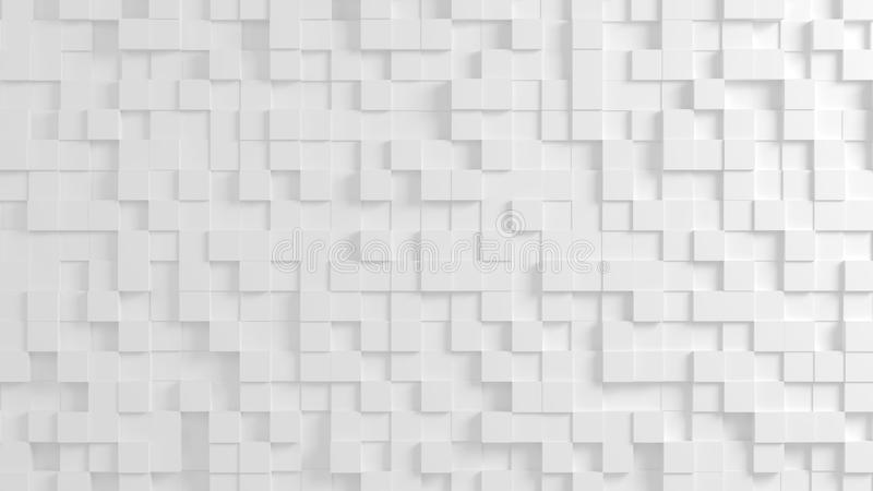 Abstract geometric texture of randomly extruded cubes royalty free stock images