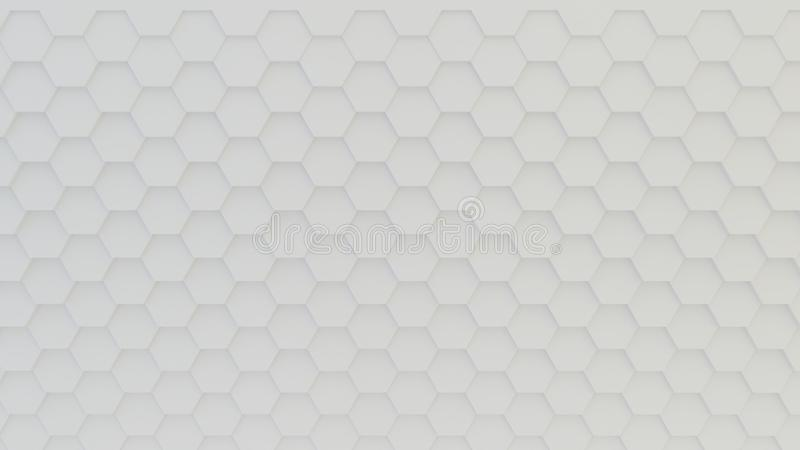 Abstract geometric texture of randomly extruded hexagons royalty free stock images