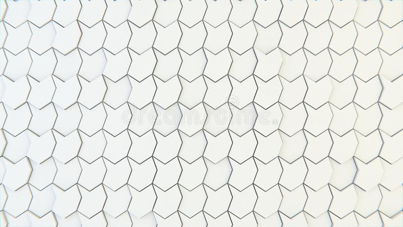 Abstract geometric texture of randomly extruded polygons royalty free stock photography