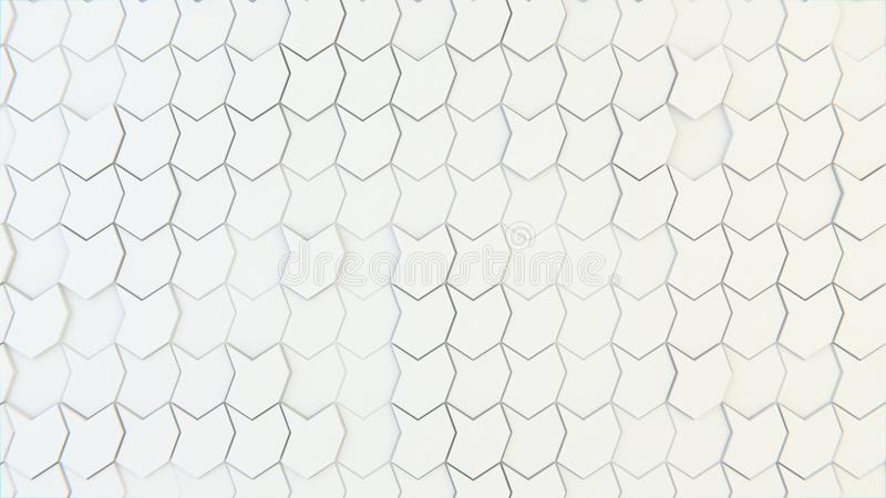 Abstract geometric texture of randomly extruded polygons stock images