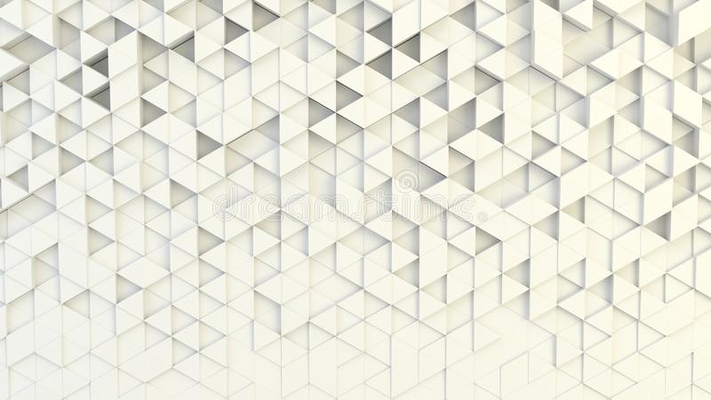 Abstract geometric texture of randomly extruded triangles vector illustration