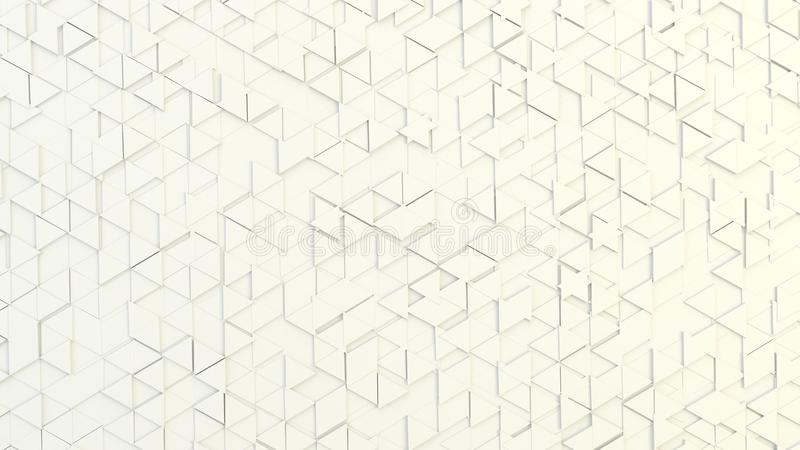 Abstract geometric texture of randomly extruded triangles royalty free stock photography