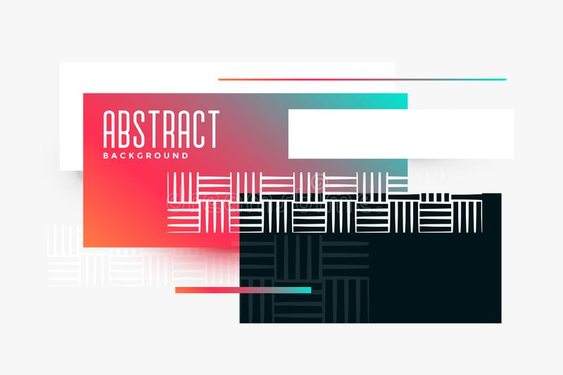 Abstract geometric triangle composition vibrant banner vector illustration