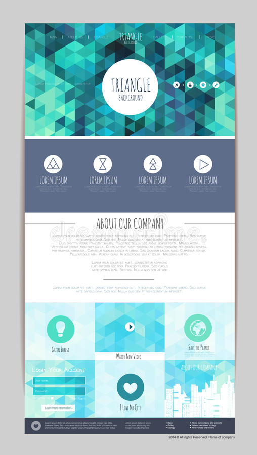 Abstract geometric triangle web site design. Corporate i. Abstract geometric triangle concept web site design. Corporate i stock illustration
