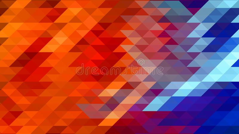 Abstract geometric triangular background in red and blue color royalty free illustration