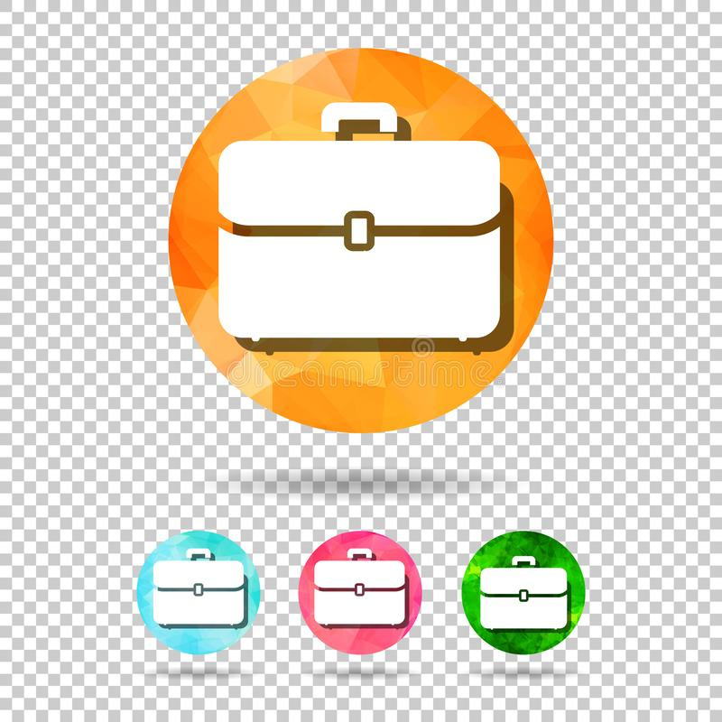 Abstract geometric triangular briefcase icon for graphic design royalty free illustration