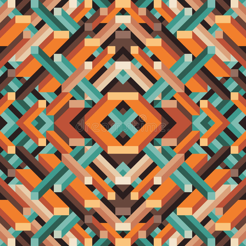 Abstract geometric vector background for presentation, booklet, website and other design project. Mosaic colored pattern. stock illustration