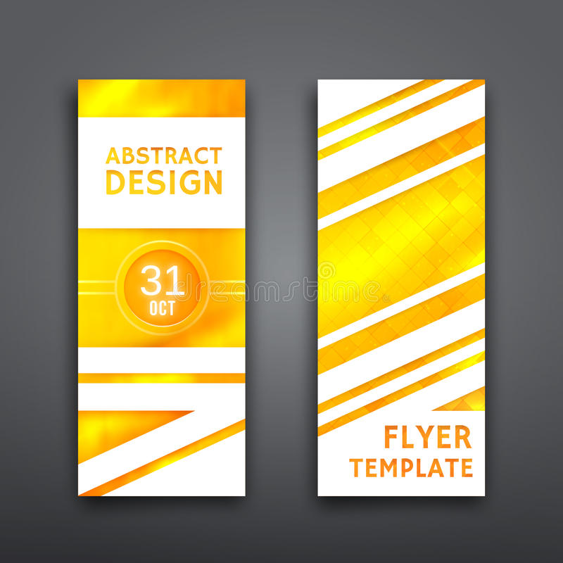 Free Abstract Geometric Vector Brochure Template. Flyer Royalty Free Stock Image - 45837576