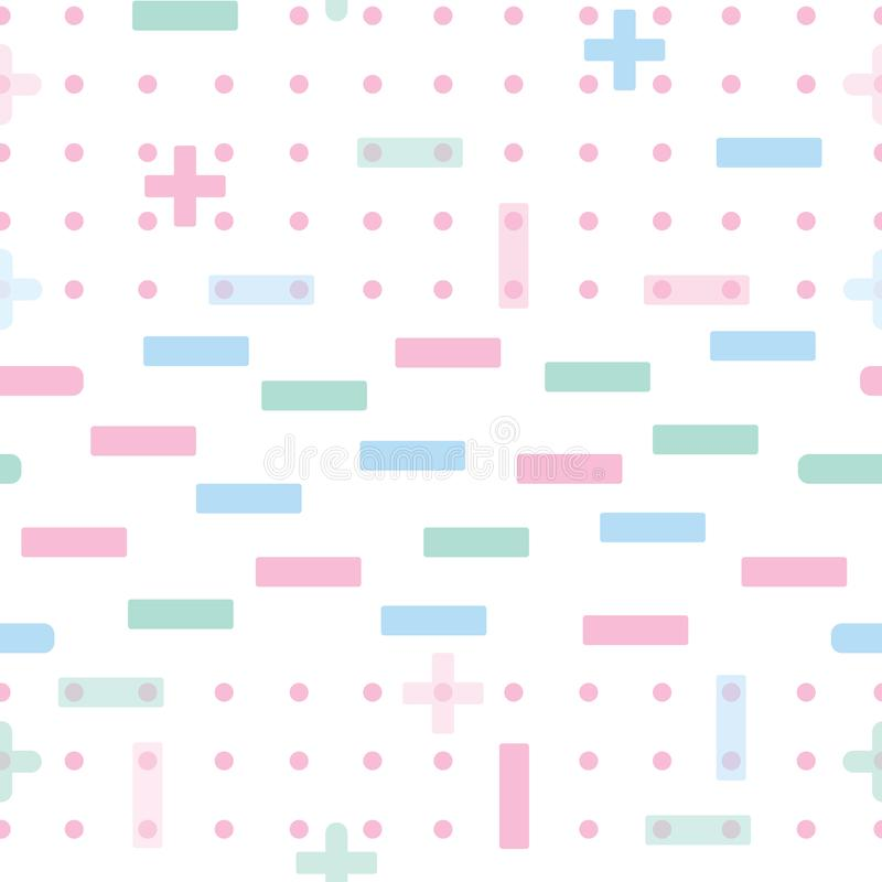 Abstract geometric vector seamless pattern background in pastel green, blue, pink and white colors vector illustration