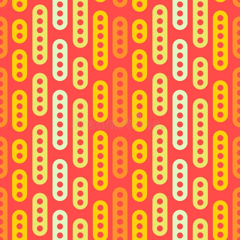 Abstract geometric vector seamless pattern. Simple light ornament on orange background. Can be printed and used as wrapping paper vector illustration