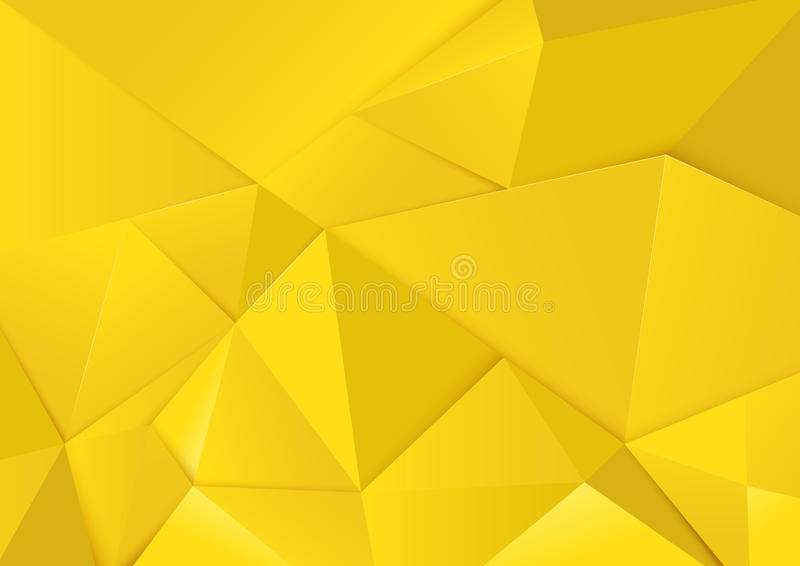 Abstract geometric yellow tone polygon and triangles background royalty free illustration