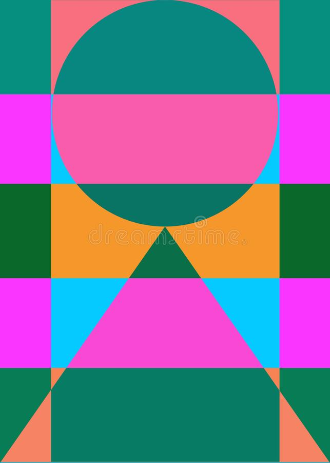 Abstract geometrical background color figures stock illustration