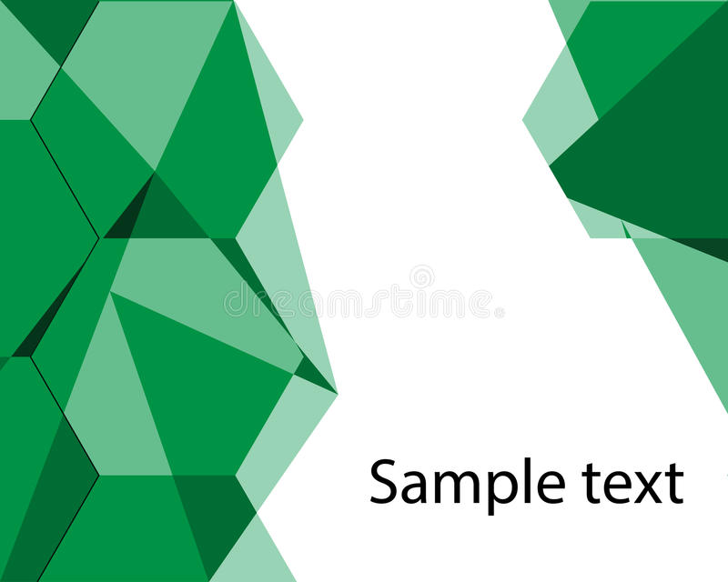 Abstract geometrical background with green polygons stock photo