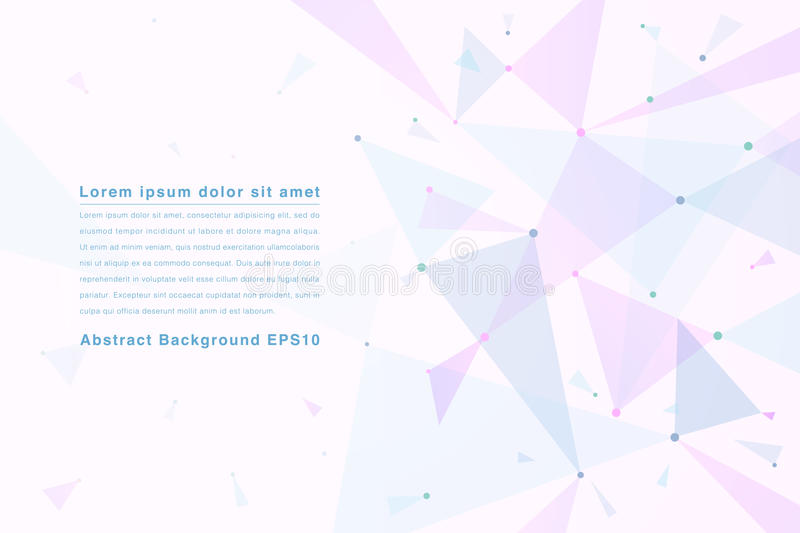 Abstract geometrical background with pink triangles and space vector illustration