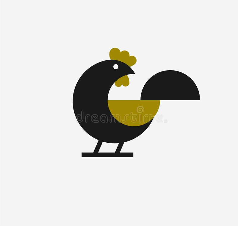 Free Abstract Geometrical Chicken Rooster Logo Royalty Free Stock Photography - 221454747
