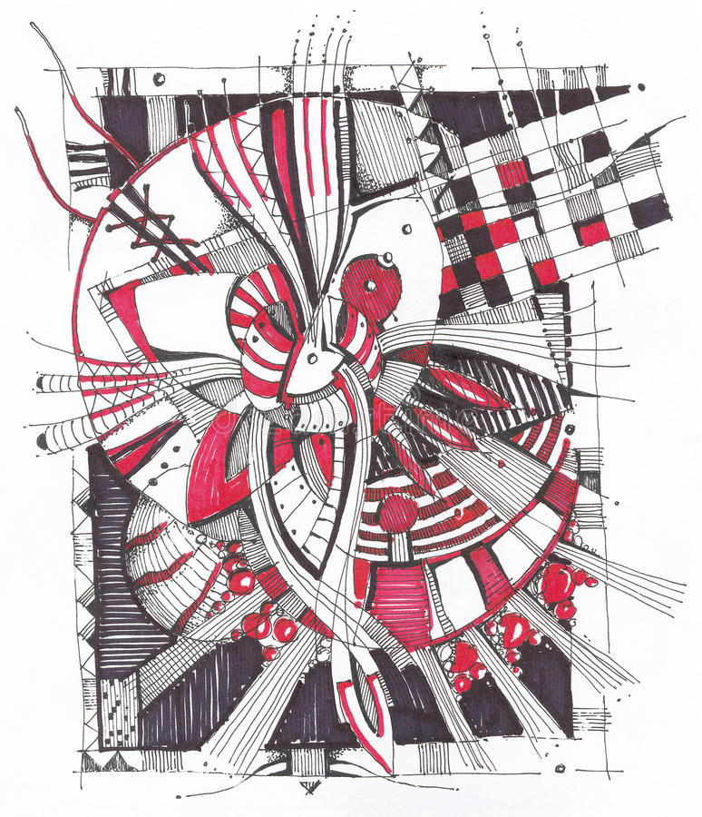 Download Abstract Geometrical Drawing Stock Illustration - Image: 23109146