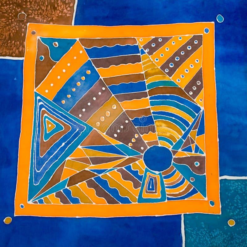 Abstract geometrical pattern on silk stock photos