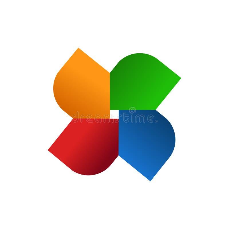 Abstract Geometrical Star Team Symbol. Vector Illustration Graphic Design stock illustration