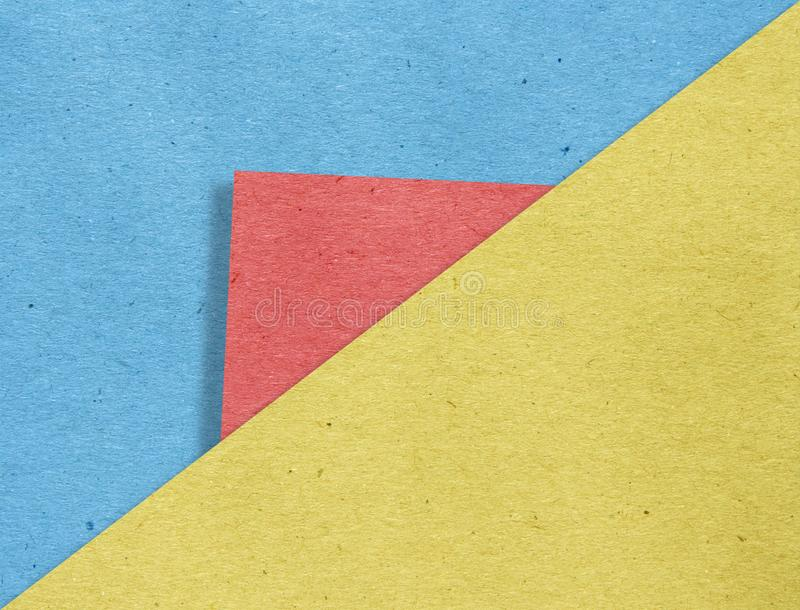 Abstract geometricpaper  on cardboard stock photography