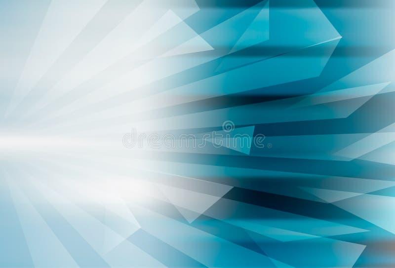 Abstract geometrisch blauw ontwerp als achtergrond stock illustratie
