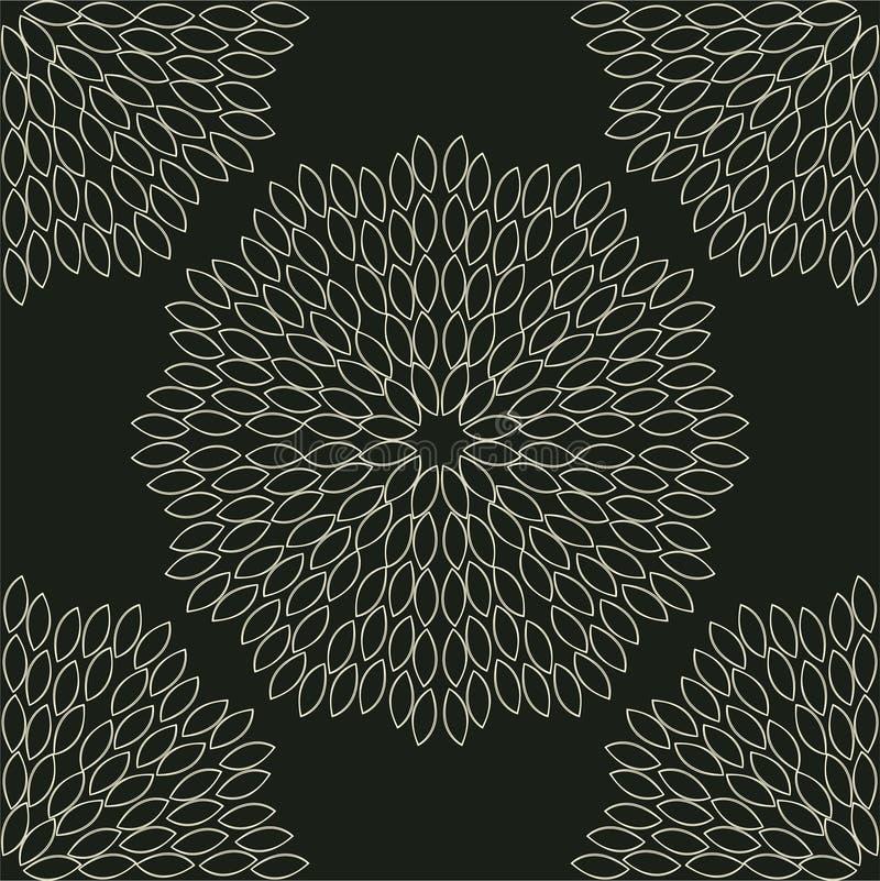Abstract geometrisch bloemen naadloos patroon Bloemen achtergrond vector illustratie
