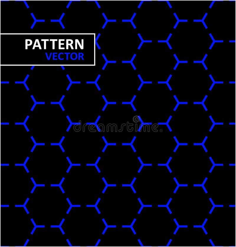 Abstract geometrisch bloemenpatroon royalty-vrije illustratie