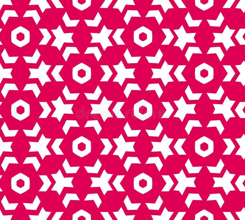 Abstract geometrisch bloemenpatroon stock illustratie