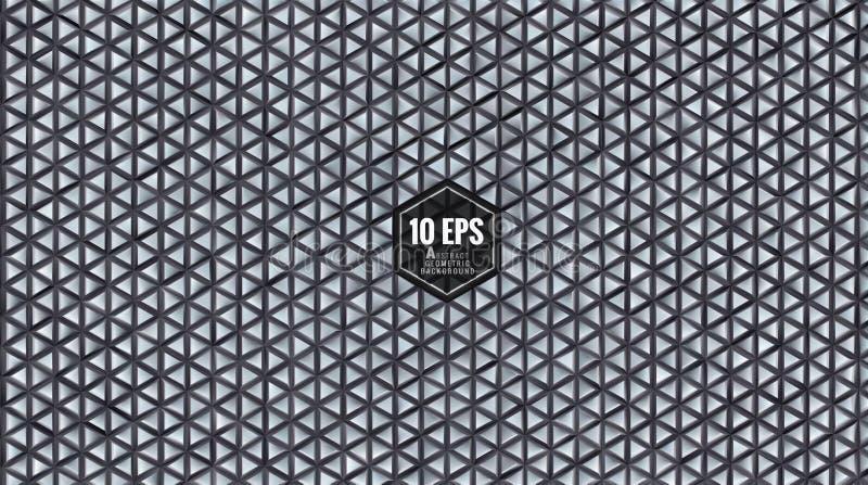 Abstract geometrisch driehoekig patroon BG in grijze kleur royalty-vrije illustratie