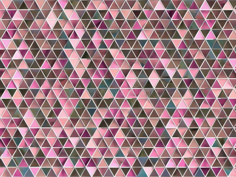 Abstract geometrisch glaspatroon stock afbeeldingen