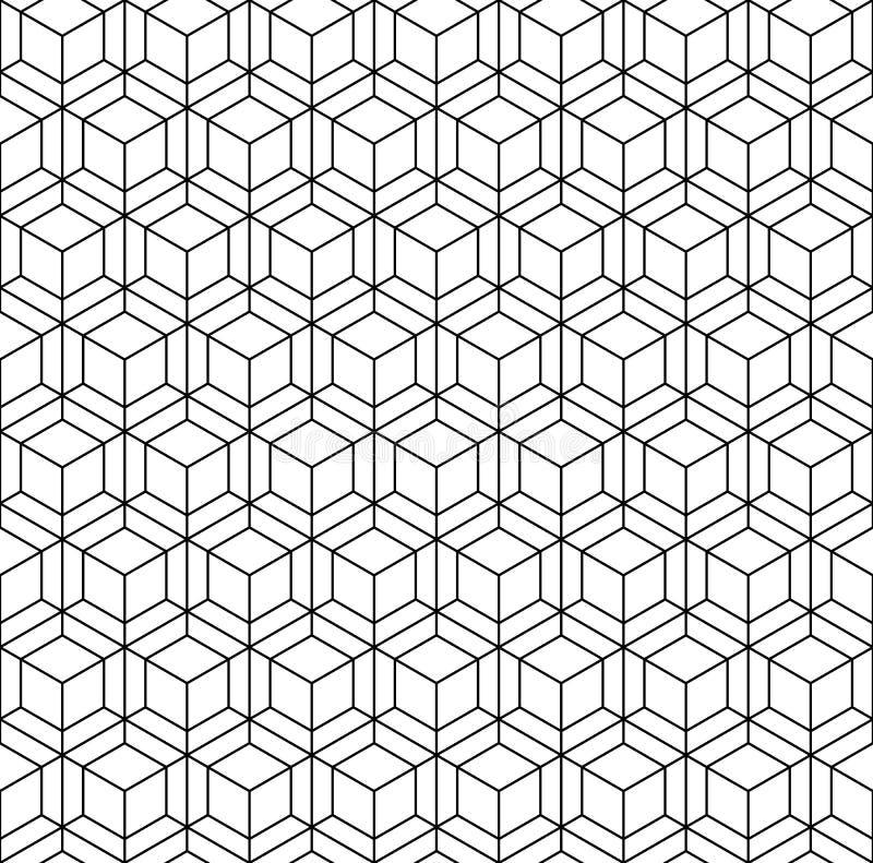 Abstract geometrisch kubus naadloos patroon Eenvoudige minimalistic grafische ontwerpachtergrond, stoffenornament Vector vector illustratie