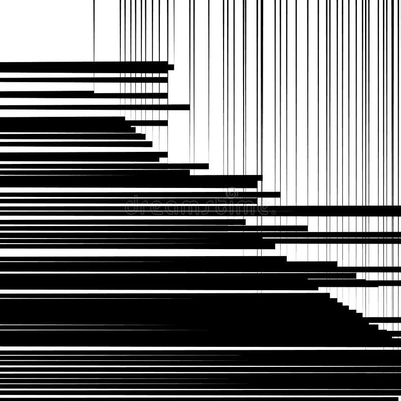 Abstract geometrisch kunstbeeld Zwart-wit, zwart-witte backgr stock illustratie