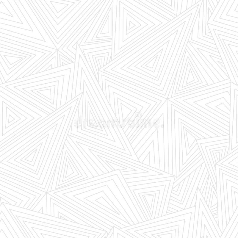 Abstract geometrisch naadloos patroon Driehoeken en lijnenachtergrond vector illustratie