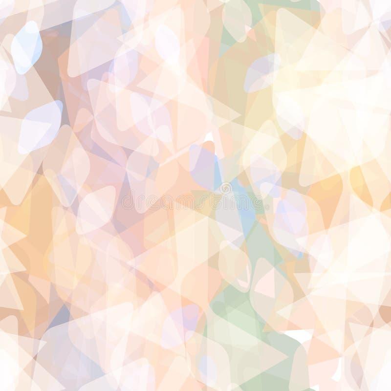 Abstract geometrisch naadloos patroon met ruit en decoratieve geometrische en eigentijdse elementen oranje lilac blauwgroene kaki stock illustratie
